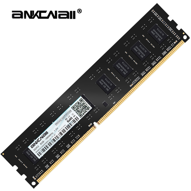 ANKOWALL Ram DDR3 8GB 4GB 16G  1866MHz  1600Mhz 1333  Desktop Memory with heat Sink  240pin  New dimm stand by   AMD/intel  G41 1