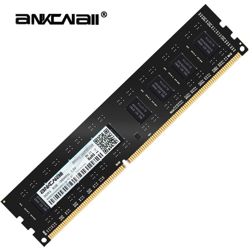 ANKOWALL DDR3 8 GB 4 GB Bellek 1600 Mhz 1333 MHz 240pin 1.5 V Masaüstü ram dimm