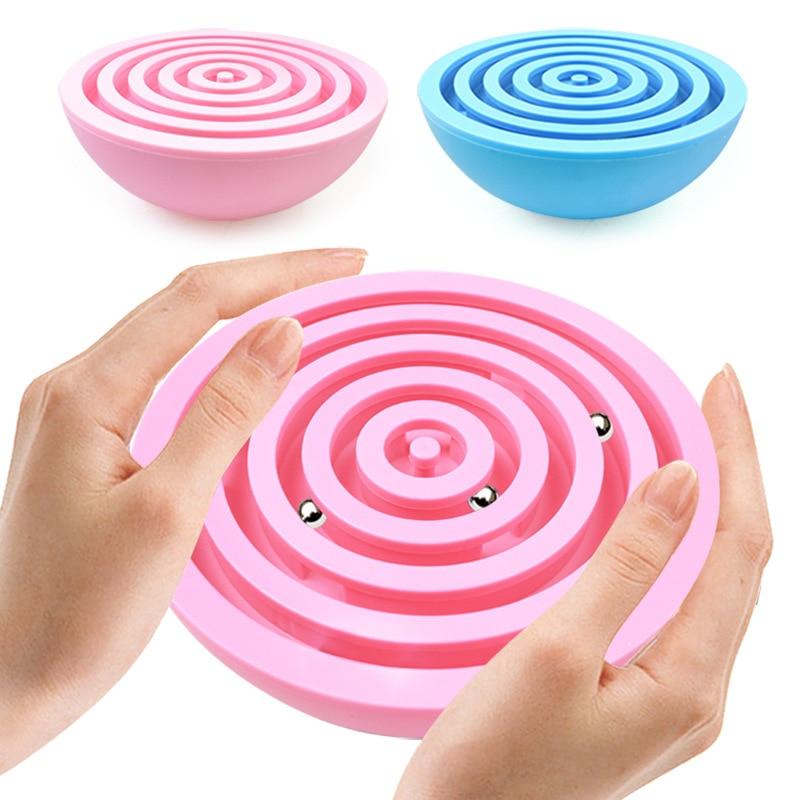 Balance Labyrinth Ball Puzzle Maze Toy Hand Game Case Fun Brain Game Challenge Fidget Toy Children Balance Ball Educational Toys