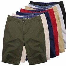 Шорты мужские хлопковые до колен, повседневные винтажные штаны, большие размеры 44, лето 2021