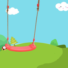 New Outdoor Swing Toys for Children Indoor Swing Rope Seat Molded For Kids Enjoy Flowers Birdsong Garden Toy Swings cheap Plastic In-Stock Items zs88 Certificate 2012152203007351 8-11 Years 12-15 Years Grownups 8 years old
