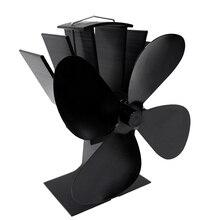 Дровяные печи дымоход без дыма 4 лезвия домашний камин экологически чистый без электричества вентилятор с тепловым приводом