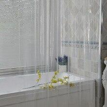 Rideau de douche clair imperméable 3D épaissi Transparent rideau de douche salle de bain moisissure PEVA maison luxe avec crochets rideau de bain