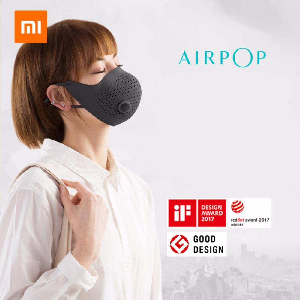 Xiaomi Mijia  AirPOP Air Wear PM0.3 / Pm2.5 Anti-haze Face Mask With 2pcs Filter Adjustable Ear Hanging Comfortable Face Masks