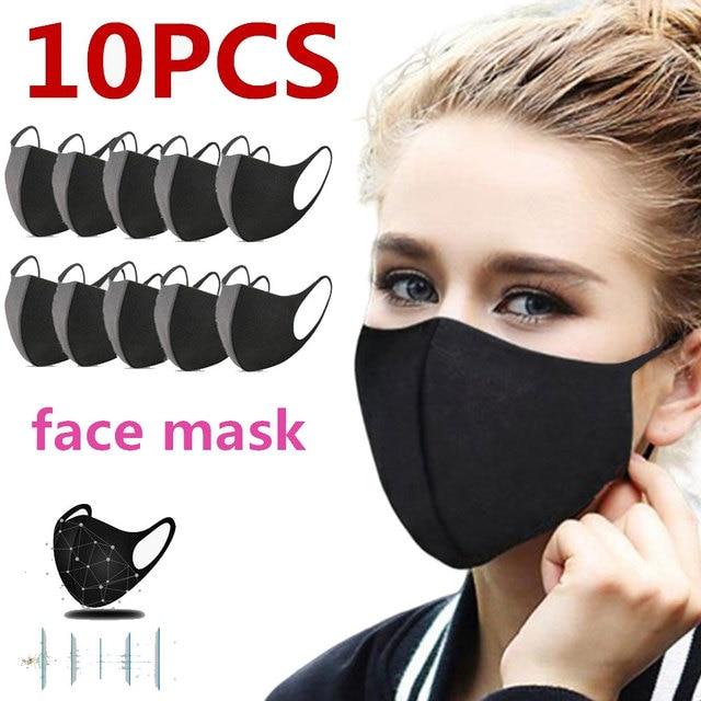 10pcs men/women Winter Maska Dustproof Mouth Face Mask Anime Cartoon Kpop Lucky Bear Women Men Muffle Face Mouth Masks k-pop