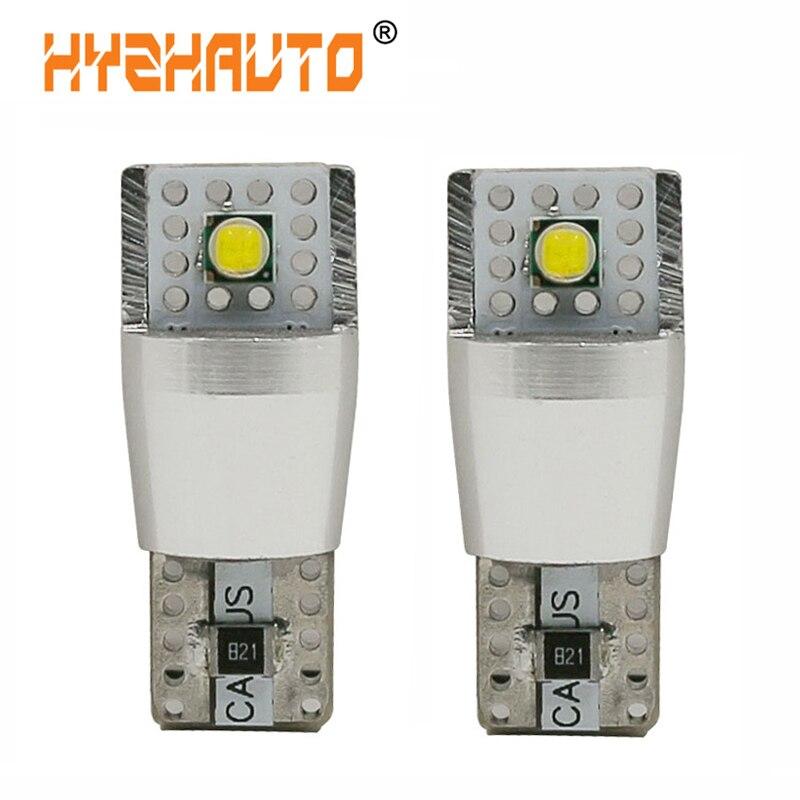 HYZHAUTO 2 шт. супер яркие светодиодсветодиодный лампы T10 Canbus 12 В 194 W5W светодиодный Автомобильные Боковые габаритные огни лм Белый
