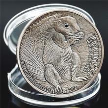 Монголия Белочка памятные монеты предлагаю животного Исповедь матери любовь памятный подарок посеребренная монет груза падения