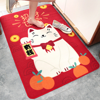 Bathroom Mat Fortune Cat Kitchen Repeatable Floor Mat Mat Nylon Sofa Home Carpets Bedroom Decoration Living Room