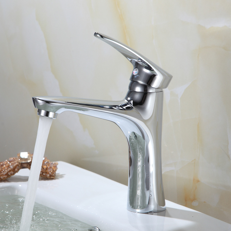 Sharks Copper Hot And Cold Basin Faucet Single Bore Single Handle Mixing Faucet Manufacturers Direct Selling Wholesale Electropl
