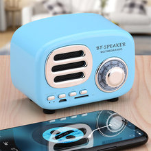 цена на Multifunctional Portable Retro Radio Bluetooth Speaker Subwoofer Wireless Stereo Speaker Support TF Memory Card