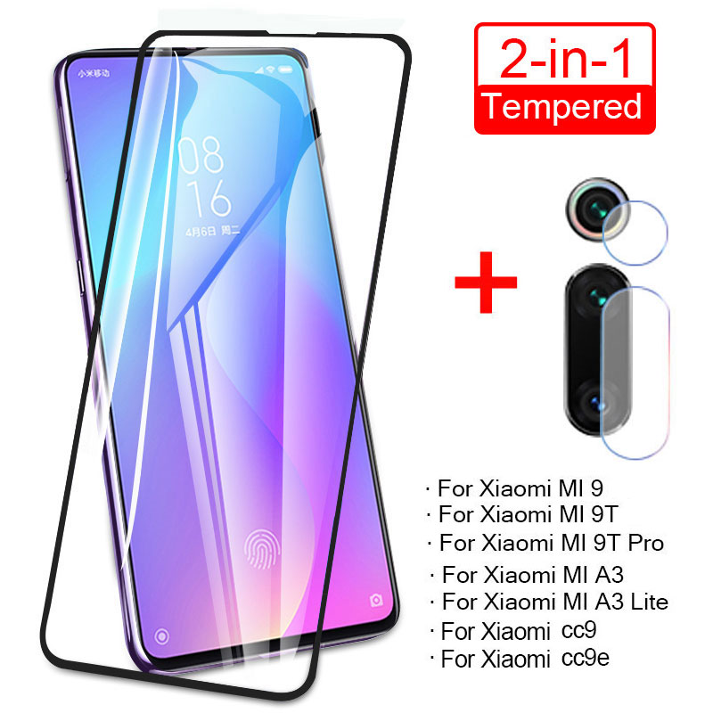 2 in 1 Camera <font><b>Lens</b></font> Tempered Glass For <font><b>Xiaomi</b></font> 9T Pro CC9 9se <font><b>Mi</b></font> 9 Lite Screen <font><b>Protector</b></font> For <font><b>Xiaomi</b></font> A3 <font><b>A2</b></font> Lite 9X Protective Glass image