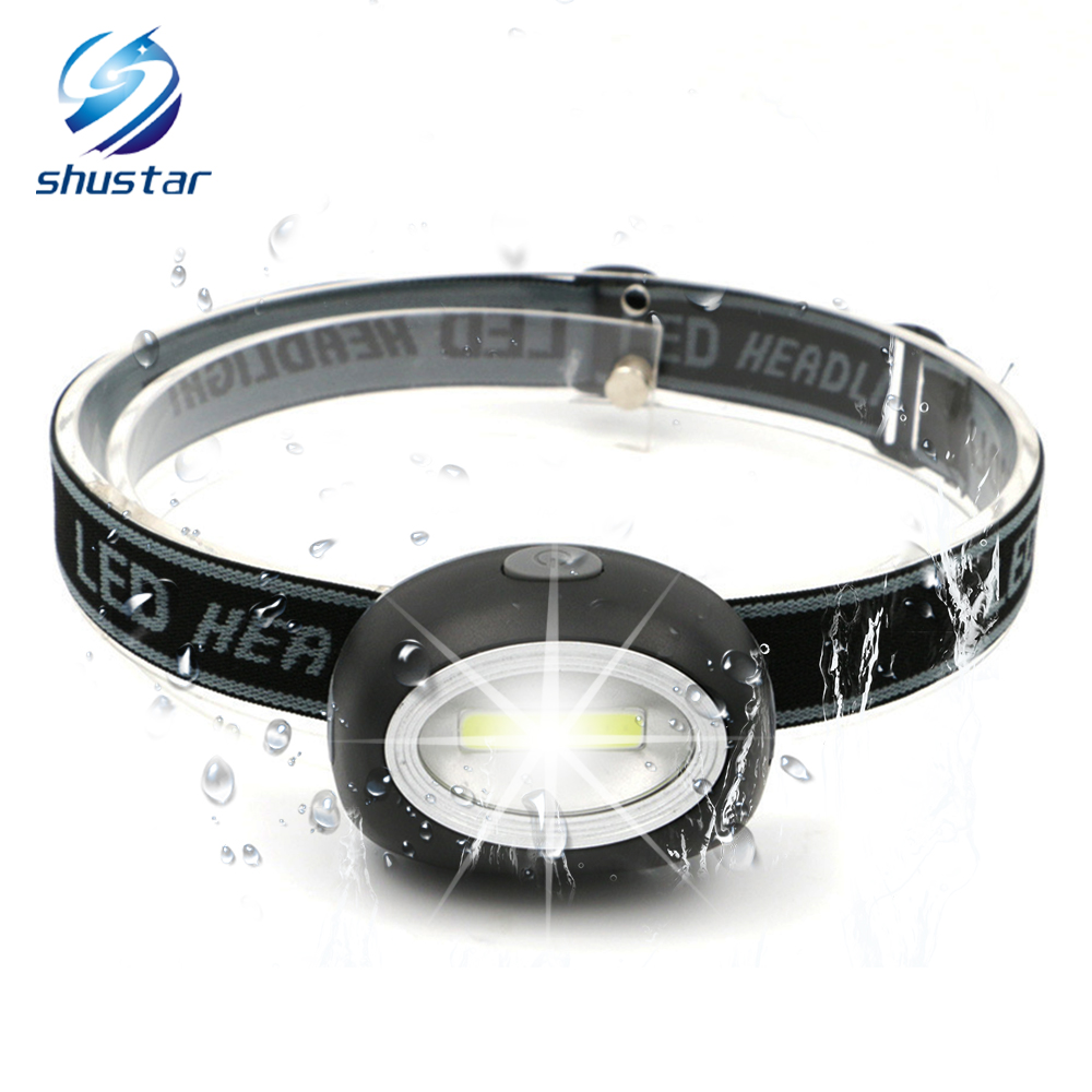 MINI LED Headlamp COB Work Light 3 Lighting Modes Powered By 3 AAA Batteries Suitable For Camping, Adventure,Hiking,etc.