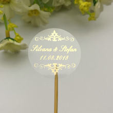 100 CUSTOM CUSTOM Hennaday Baptism Wedding Engagement PARTY Favors สติกเกอร์ Rose Gold Blue สีแดง(China)