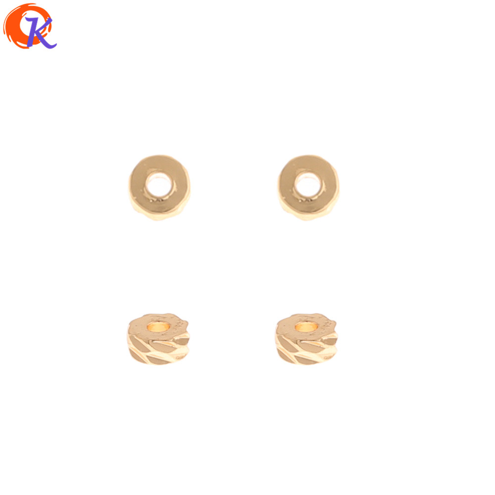 Cordial Design 200Pcs 4*4MM DIY Making/Jewelry Accessories/Genuine Gold Plating/Wheel Shape/Hand Made/Jewelry Findings Component