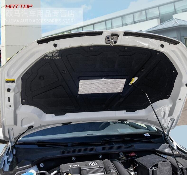 Feuille d'aluminium + PET avant moteur Anti-bruit isolation phonique coton chaleur cellules fermées mousse pour Volkswagen VW Sagitar 2012-2018