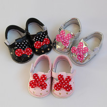 1 Pair Cute Bow Princess Shoes for 16 inch Salon Baby 6.5*2.8cm 1/4 Doll