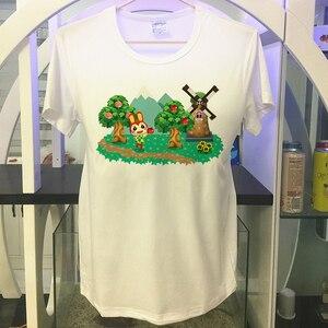 Image 3 - Animal Crossing shirt new leaf Summer Mens T shirt Villager Fang Diana Gaming Tshirt Cool Tees Tops Harajuku Streetwear lottie