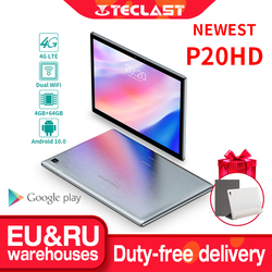 Teclast P20HD 10.1 Android 10 Tablet 1920x1200 SC9863A Octa Core 4GB RAM 64GB ROM 4G Network AI Speed-up Tablets PC Dual Wifi