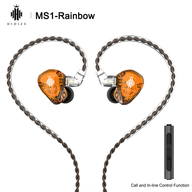 Hidizs MS1 Rainbow HiFi Audio Dynamic Diaphragm In Ear Monitor earphone IEM with Detachable Cable 2Pin 0.78mm Connector