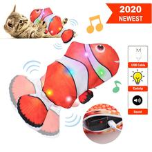 моделирование рыбной игрушки cat chew toys cat teaser fish cushions catnip cat supplies Moving Fish Electric Toy For Cat USB Charger Interactive Cat Chew Bite Toys Catnip Supplies Kitten Fish Flop Cat Wagging Toy