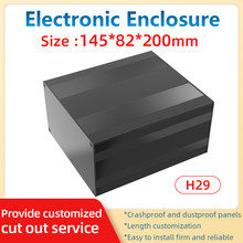 Fabrication Power Box Adapter Equipment Protect Case Junction Outlet Enclosure Batterie Externe Housing H29A 145*82