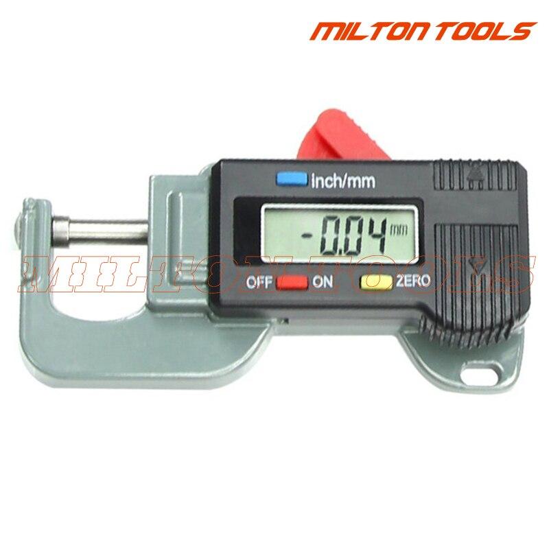 Портативный Точный Цифровой измеритель толщины, металлический тестер, микрометр от 0 до 12,7 мм, штангенциркуль, измеритель ширины, измерител...