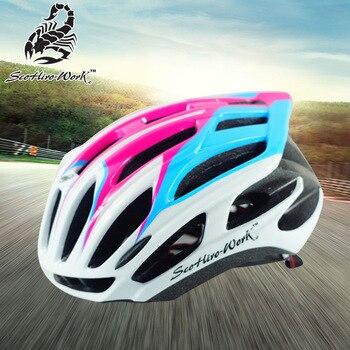 2020 equipo de ciclismo profesional Casco de Bicicleta de carretera para hombres y mujeres bicicleta de triatlón Enduro carreras de descenso montaña MTB Aero BMX