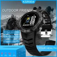 KSUN KSR904 Men Sport Pedometer Smart Watch IP68 Waterproof Fitness Tracker Heart Rate Monitor Women Clock Smartwatch