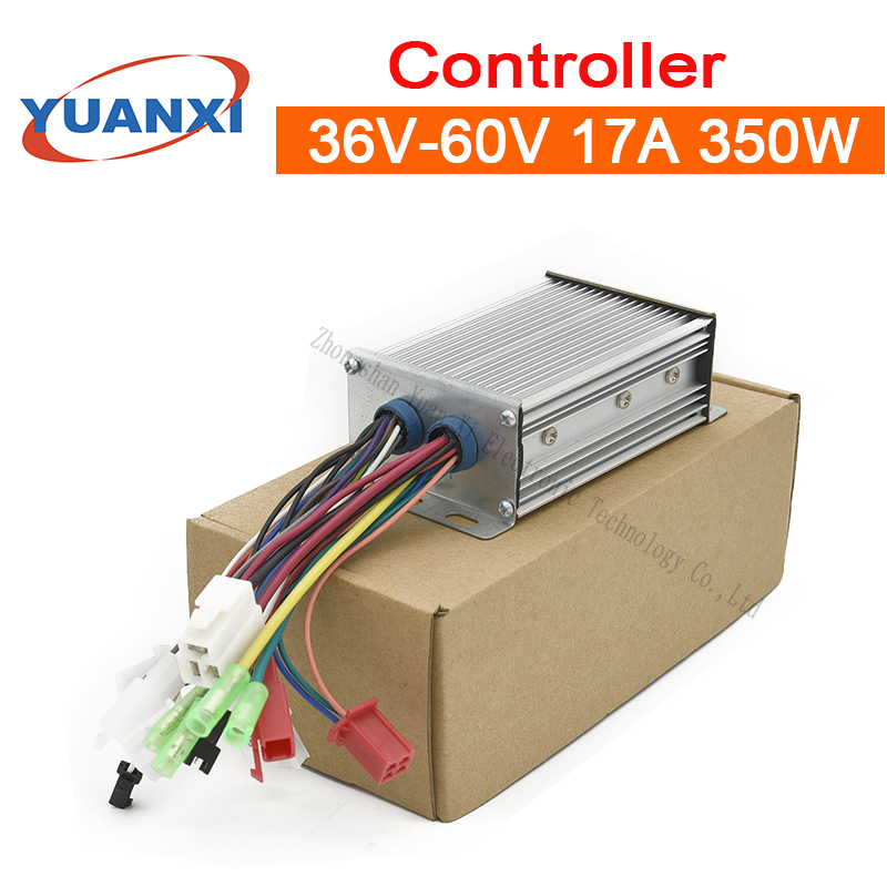 Mute Electric Car Controller 36V/48V/60V 17A 350W Intelligent Brushless Three - Mode Universal