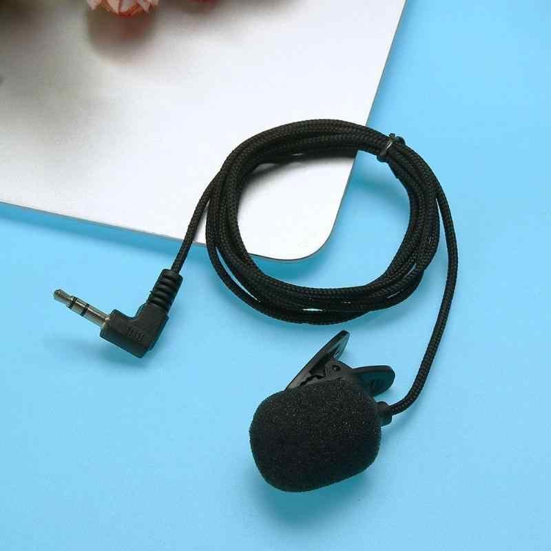 חדש נייד מיני קליפ על דש מיקרופון דיבורית 3.5mm הקבל Wired מיקרופון ראש ללבוש מיקרופון עבור מחשב נייד Lound רמקול