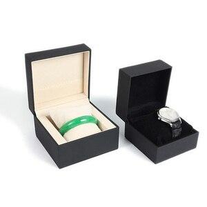 Деревянная коробка для ювелирных изделий с принтом логотипа