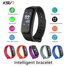 Ksun kss709 relógio inteligente das mulheres dos homens pulseira de fitness rastreador freqüência cardíaca smartwatch esporte relógio inteligente pulseira banda