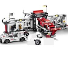749pcs technic super speed racing car sportscar tuning maintenance repair station 5 figures building block Bricks Toys 78117 749pcs super speed 919 racing car sportscar tuning maintenance repair station building block brick toy without color box