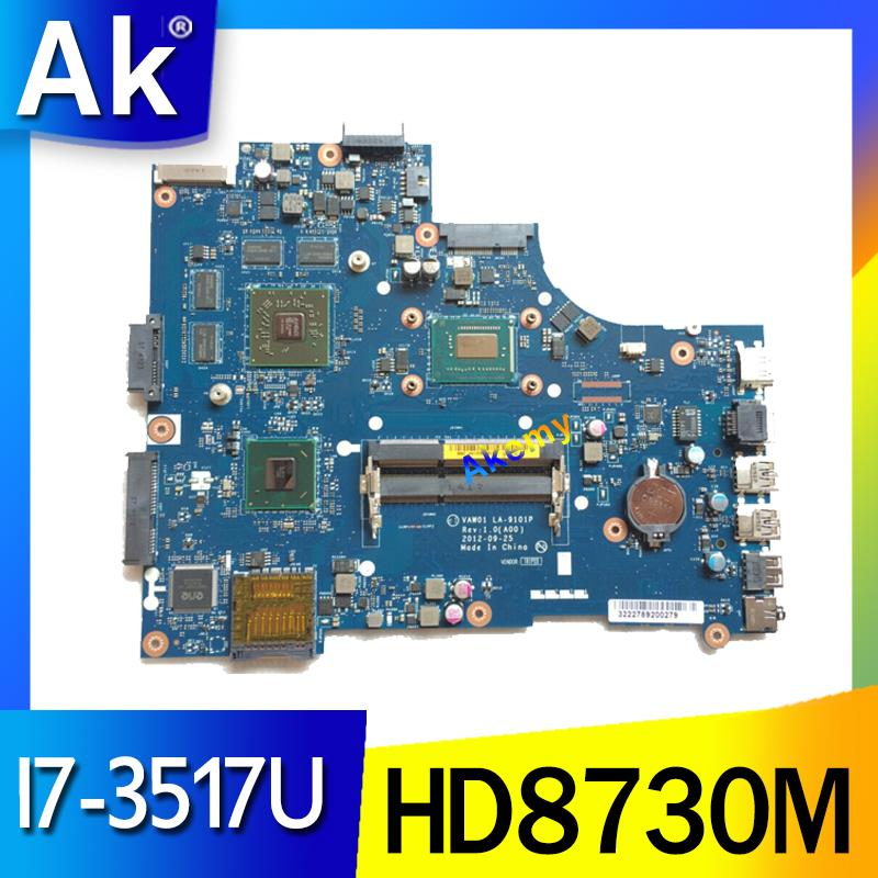 for dell inspiron 3521 5521 V2521 LA-9101P CN-00P55V 00P55V 0P55V Laptop Motherboard with I7-3517U cpu and HD8730M <font><b>2GB</b></font> <font><b>gpu</b></font> work image