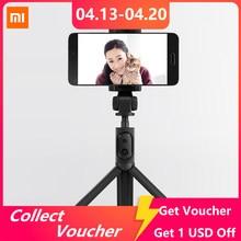 Xiaomi-Tripé dobrável para selfie, monopé, bastão para selfie, vara para fotografar a si mesmo, botão disparador, Bluetooth, com wireless, original para iOS/Android/Xiaomi