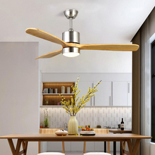 American Modern Household Living Room LED Wood Fan Blade Ceiling Fan Lamp High Quality Iron Art Restaurant Fan Hanging Light printio metallica fan art