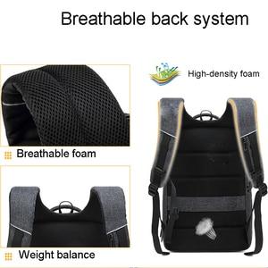 Image 5 - 抗盗難男性 mochila ビジネス旅行 15.6 インチのラップトップのバックパック、男性防水カレッジスクールコンピュータバッグ