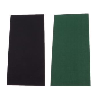 2Pcs Down Jackets Self-adhesive Hole Repair Patches Waterproof Clothing Mend - Black & Green