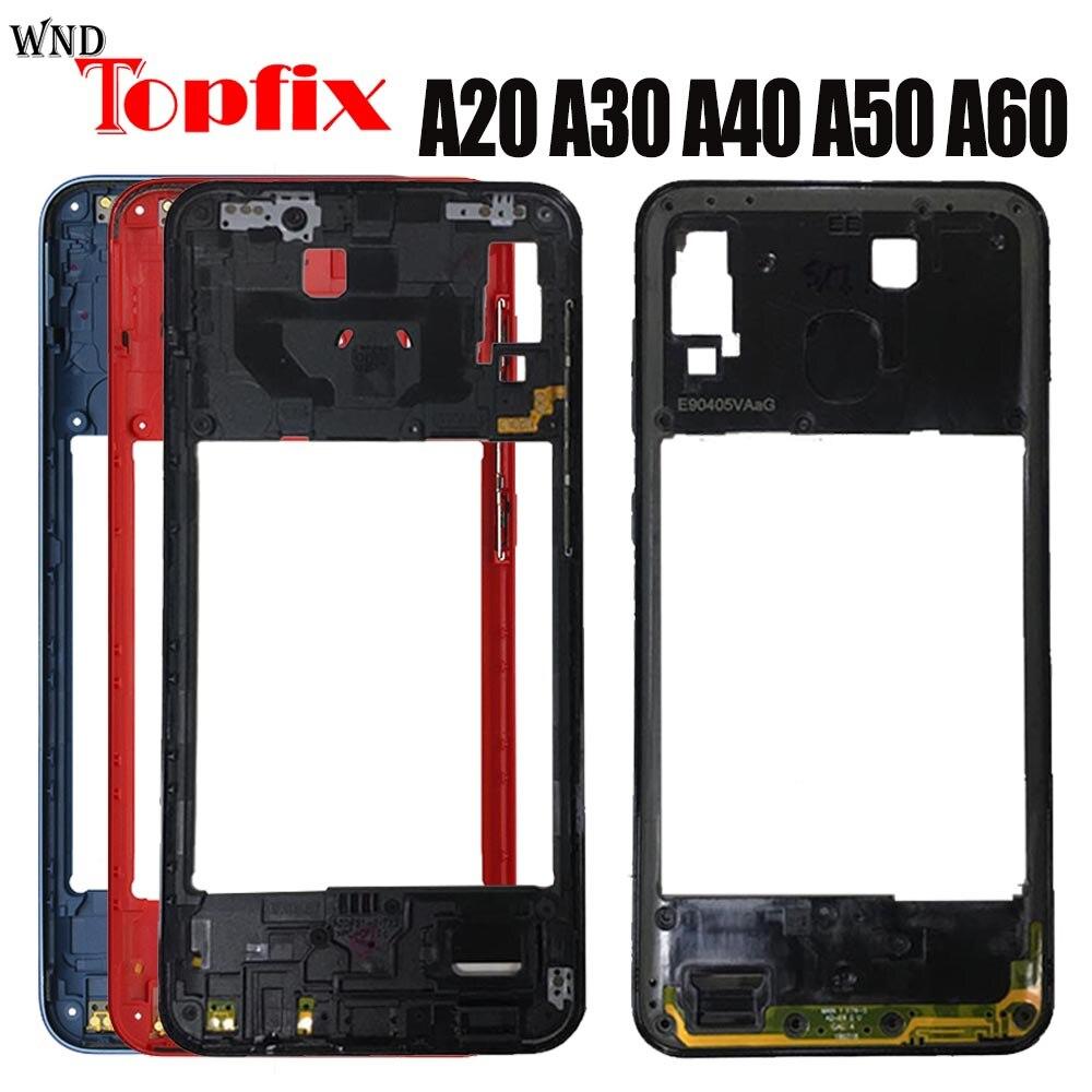 Для Samsung Galaxy A20 A30 A40 A50 A60 средняя рамка A205F A305F A405F A505F A606F средняя рамка средняя пластина Замена