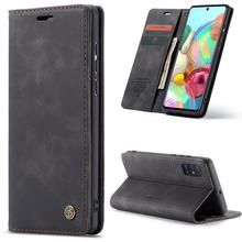For Galaxy A71 CaseMe Multifunctional Horizontal Flip Leather Case, with Card Slot & Holder & Wallet(Coffee) mooncase slim leather side flip wallet card slot pouch with kickstand shell back чехол для samsung galaxy a3 blue