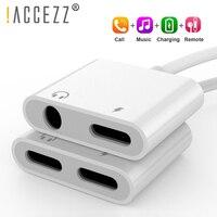 ¡! ACCEZZ-Adaptador 2 en 1 para iPhone, adaptador para Apple iPhone XS MAX XR X 7 8 Plus IOS 12 3,5mm, Cable auxiliar divisor