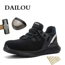 Safety-Shoes Sneakers Indestructible-Shoe Steel-Toe Waterproof Men Breathable DAILOU