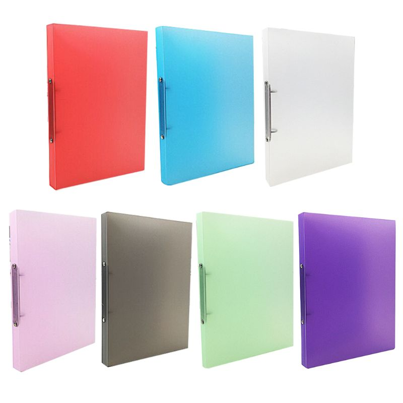 A4 Ring Binder Colorured Transparent Loose-leaf Paper File Folder Storage Supply
