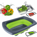 Küche Gadgets Werkzeuge Obst & Gemüse Saubere Werkzeuge Round Drain Korb Faltbare Siebe Folding Sieb kichen zubehör