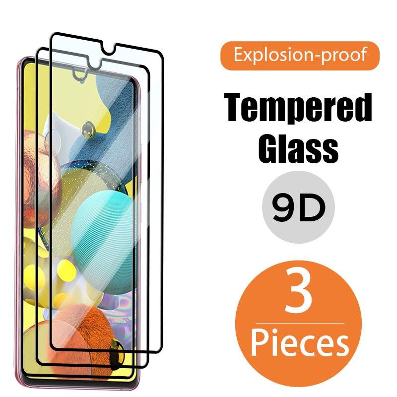 Стекло с полным покрытием для Samsung Galaxy A50, A40, A10, A70, A20, A30, Защитная пленка для Samsung A51, A21S, A71, A31, A41, A12, стекло, 3 шт.