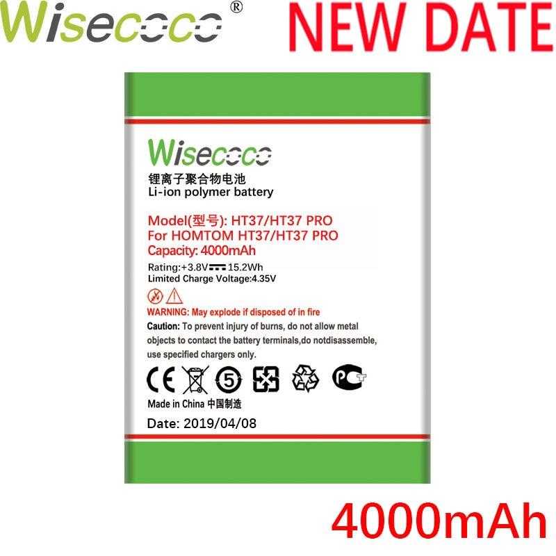 Wisecoco HT37 4000mAh Recentemente Produzido Bateria de Alta Qualidade Para HOMTOM HT37 HT 37 PRO Bateria Do Telefone de Substituição + Rastreamento número