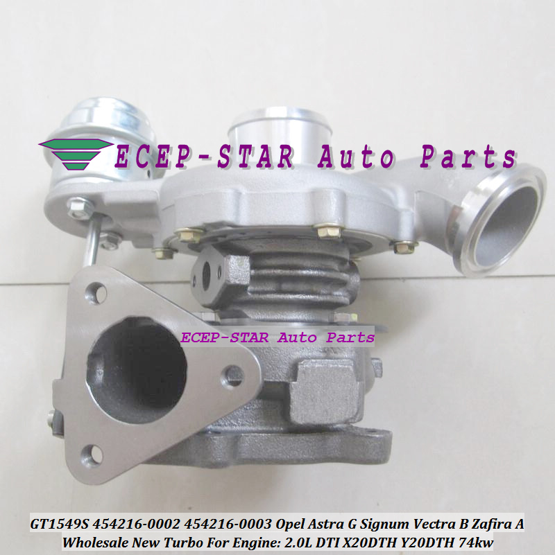 Turbo GT1549S 454216 454216-5003S 454216-0001 24442214 90570506 860046 93184042 For Opel Vectra Zafira Astra G 2.0L 20HC X20DTH