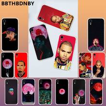 Rapper Chris Brown Voor 11 Pro Max Capa Para Fundas Telefoon Case Etui Voor Iphone 11 Pro Xs Max 8 7 6 6S Plus X 5 5S Se Xr Cover(China)