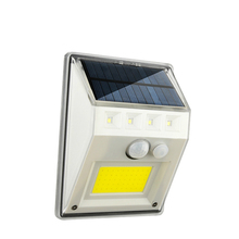 New Solar Wall Light Four-Sided Luminous Induction Street Lamp Courtyard Outdoor Villa Lighting 100led 114led
