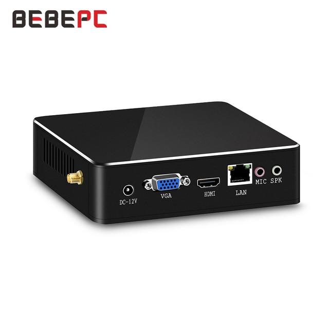 BEBEPC Mini PC Intel Core i7 7500U i3 7100U i5 7200U HDMI WiFi Windows 10 Desktop HD Graphic 620 Cooler fan Mini Compute